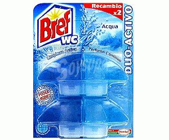 BREFF WC Duo Recambio Azul 2 Unidades x 60 Mililitros