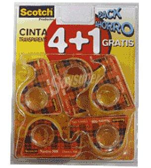 Scotch Cinta adhesivas 10X15M 4+1 Scotch, Pack de 5 unidades
