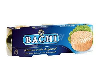 Bachi Atún en aceite vegetal Lata de 52 g. pack de 3