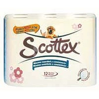 Scottex Papel higiénico 2 capas Paquete 12 rollos
