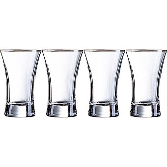 LUMINARC Spirits Vasos de vidrio Hot Shot set de 4 unidades 7 cl