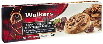 Walkers Walkers Galletas de Mantequilla con Chocolate y Avellana 150 gr