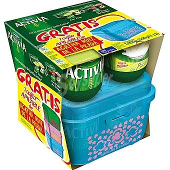 Danone Activia Yogur con pera pack 4 + yogur con frutas del bosque pack 4 unidades 125 g + cajita apilable Aghata Ruiz de la Prada Pack 4