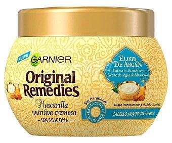 Original Remedies Garnier Mascarilla nutritiva con aceite de argán y crema de almendras para cabellos secos y apagados 300 ml
