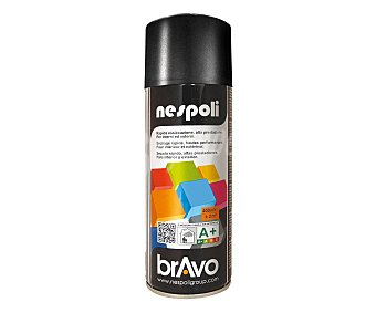 BRAVO Pintura en spray de color negro brillante 400 ml