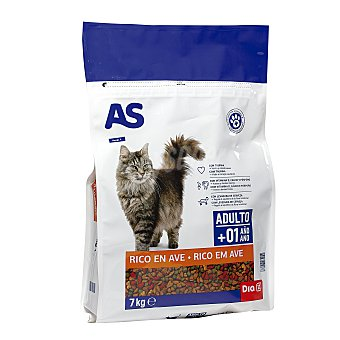 AS Alimento para gatos multicomponente carne Bolsa 7 Kg