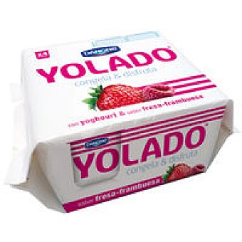 Yolado Danone Yolado de fresa-frambuesa Pack 4x75 g