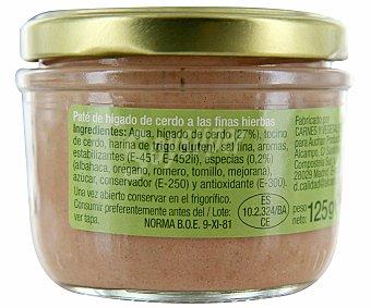 Auchan Paté a las finas hierbas, tarro 125 gramos