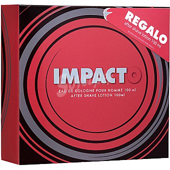 Impacto eau de cologne masculina vaporizador + after shave loción frasco 100 ml
