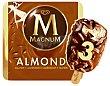 Helado de vainilla recubierto de chocolate con trocitos de almendras de 3 uds Magnum Frigo