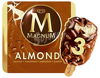 Magnum Helado de chocolate con almendra pack de 3x110 ml