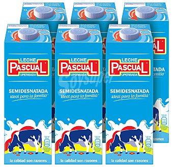 Pascual Leche Semidesnatada Pack 6x1 litro