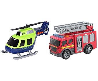 ROAD RIPPERS Rush & Rescue Surtido de vehículos de emergencia interactivos con luces y sonidos Rush & Rescue, RIPPERS.