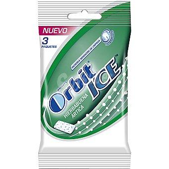 Orbit Hierbabuena ártica chicle sin azúcar Ice Pack 3 envase 14 g