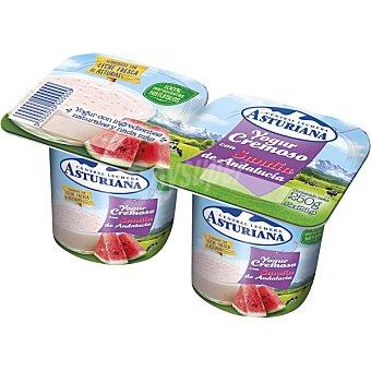 ASTURIANA Yogur cremoso con sandía de Andalucía Pack 2x125 g