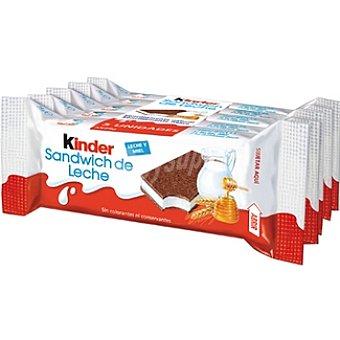 Kinder Sandwich de leche Pack 5 envase 28 g
