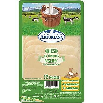Central Lechera Asturiana Queso en lonchas ligero Bandeja 180 g