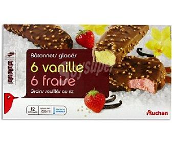 Auchan Bombón helado vainilla y chocolate 12x60ml
