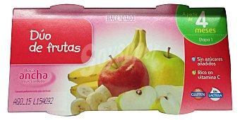 Hacendado Tarrito duo de frutas (manzana y plátano) a partir 4 meses 2 unidades de 130 g (260 g)
