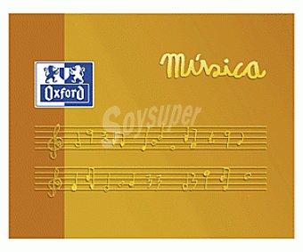 Oxford School Bloc Música Niños A5 Apaisado 10 Hojas Blancas Tapa Blanda 1 Unidad