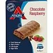 barritas de chocolate con frambuesa bajas en carbohidratos 5 unidades x 30g envase 150 g 5 unidades x 30g Atkins