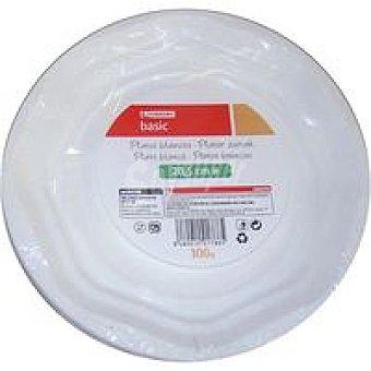 Plato blanco de plástico 20 Pack 100 unid