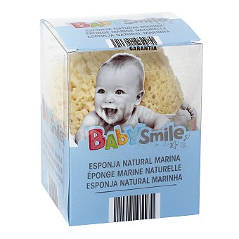 Baby Smile Esponja natural bebe bolsa 1 unidad Bolsa 1 unidad
