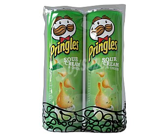 Pringles Patatas con forma de teja 2 botes de 165 g