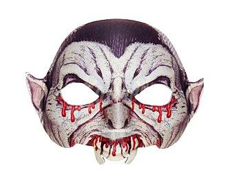 WIDMANN Máscara de media cara para disfraz de vampiro, Halloween Máscara Vamipiro
