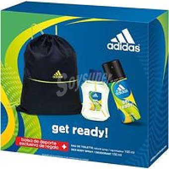 Adidas Get Ready Pack EDT100 ml. spray +Deo +Gim Bag 150 ml.