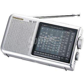 SANGEAN SG-622 Radio de bolsillo analógica en color gris