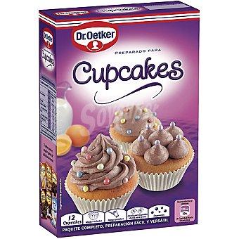 Dr. Oetker Preparado para hacer Cupcakes estuche 37 g con moldes incluidos manga pastelera y adornos para decorar 12 unidades
