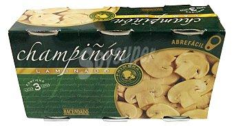 Hacendado Champiñon laminado conserva Paquete 3 uds (225 g peso neto)