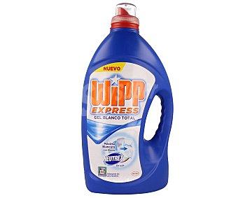 Wipp Express Detergente en gel blanco total (sin lejía) 44 lavados