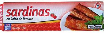 Ubago SARDINAS TOMATE LATA PACK 2 x 113 g - 226 g