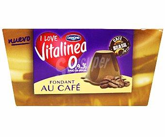 Vitalínea Danone Fondant de café Pack 4X100 grs