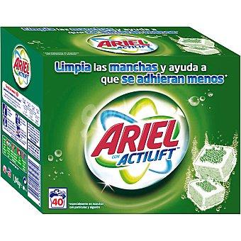 Ariel Detergente en polvo para máquina con Actilift (maleta 40 pastillas) Paquete de 20 dosis