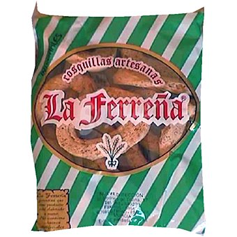 LA FERREÑA Rosquillas de pan integrales bolsa 250 g Bolsa 250 g