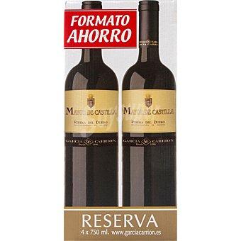 Mayor de Castilla Vino tinto reserva D.O. Ribera del Duero caja 4 botellas 75 cl