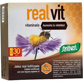 Santiveri Jalea real vitaminada aumenta tu vitalidad Real Vit 30 viales envase 300 cc