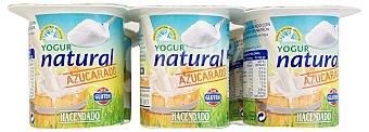 Hacendado Yogur natural azucarado Pack 6 x 125 g - 750 g