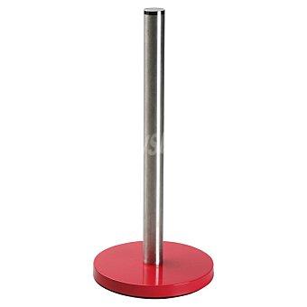 QUO Soporte para rollo de cocina en acero inoxidable en color rojo 1 Unidad