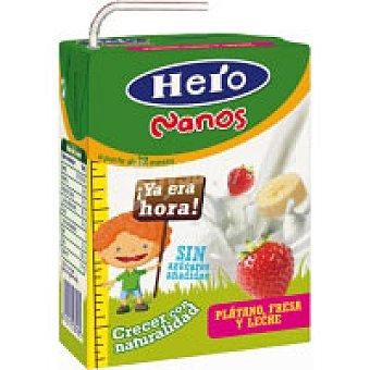 Hero Baby Zumo con leche de plátano-fresa Nanos 200 ml