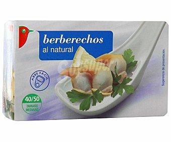 Auchan Berberechos al natural (40/50 piezas) Lata de 63 gramos