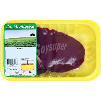 LA MONTAÑERA Hígado de cerdo peso aproximado Bandeja 350 g