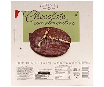 Auchan Torta de turrón de chocolate y almendras 200 gramos