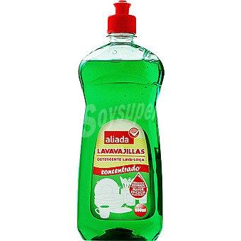 Aliada Lavavajillas a mano concentrado verde Botella 600 ml