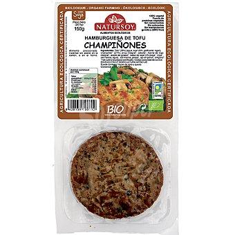 Natursoy Hamburguesa de tofu y champiñones pack 2 unidades estuche 150 g Pack 2 unidades (150 g)