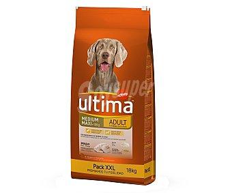Ultima Affinity Pienso para perros adultos a base de pollo, arroz y cereales integrales Saco 18 kg