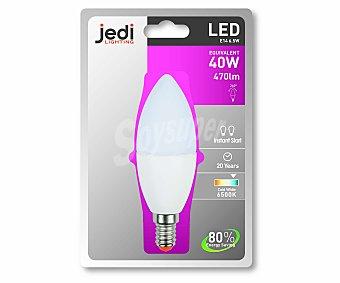 JEDI Bombilla Led Vela 6.5W, E14, Luz Fria 1 Unidad